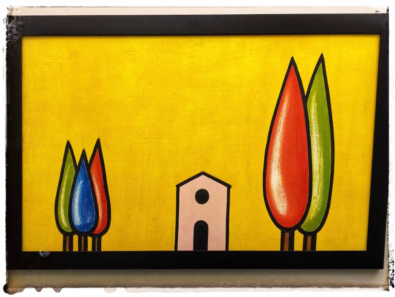 Quadro-con-cipressi-colorati-su-fondo-giallo-1.jpg